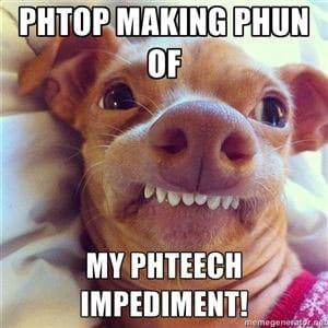 chihuahua teeth meme